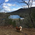 Douthat Lake from the ridge