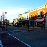 Downtown, a block away