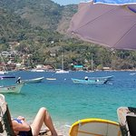 View from Lounge Chair on Beach - Toward Yelapa Village