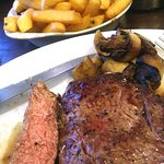 Rib Eye Steak and shared chips