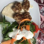 Great for lunch - Salad with Kofte (meatballs) - Loved the flavor of the meatballs!