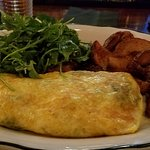Spinach and Kale with Gruyere Omelet