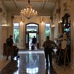 The lobby of the fine old Shelbourne Hotel
