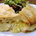 Crab melt sandwich - perfectly done with lots of crabmeat and cheese