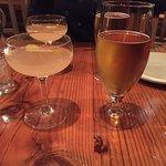 Tieton Apricot and Seattle Raindrop drinks