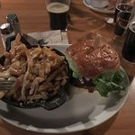 Noble Burger with Classic Poutine as an upgraded side dish