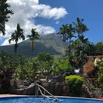 Arenal Volcano from the Los Lagos Resort and Spa biggest cold pool