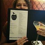 Martini menu.