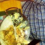 Hake, calamari and prawn combo