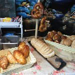 some bread and pastries