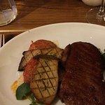 Sirloin steak for main course