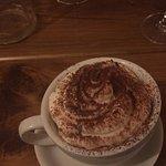 Bourbon cappuccino for dessert