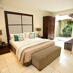 The bedroom at Ahimsa Estate