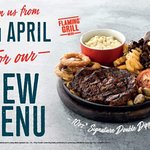 Check out our fantastic new menu from April 17th 2018