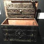 Metal case circa 1700~ that held religious vestments