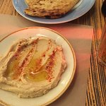 tasty hummus and bread