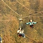 Flying like a bird on the Zip Line