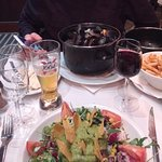 Moules-Frites and Mexican Salad