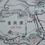 余呉湖案内図