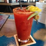 Huge spicy bloody mary!