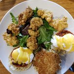 Oyster Bed (eggs Benny w/ Fried Oysters)