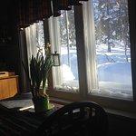 Vue sur l'extérieur enneigé