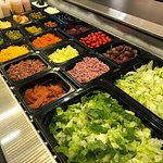 Fresh salad fixings at our lunch buffet