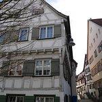 Beautifully restored half-timbered houses.