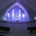 The Ice Hotel chapel.