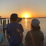 Boys watching this gorgeous sunset!