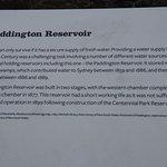 About the Paddington Reservoir