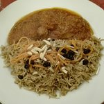 Plat : Kabouli (viande d'agneau)