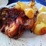 Pollo alla diavola con patate al forno