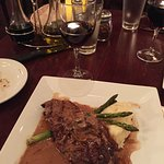 Steak Marsala with Brancaia wine