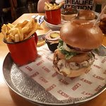 One of their awesome burgers!
