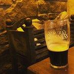 Enjoying a Guinness