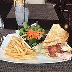 Turkey BLT with side salad + french fries