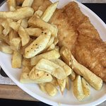 Medium haddock and chips