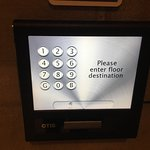 Otis Compass Destination Dispatch floor selection number pad