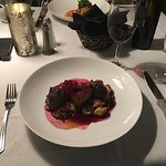 Beef cheeks braised in wine