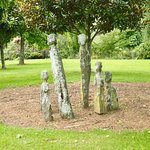 Wood sculptures on the grounds...
