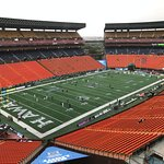 Aloha Stadium on a wet November day
