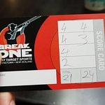 Final score card.