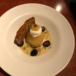 Poached Pear and Biscotti