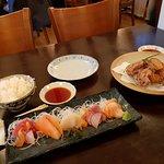 Sashimi and Chicken Karaage
