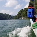Trip from the port at Santo Tomas by boat to Ak Tenamit and Livingston via the Rio Dulce.