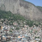 Favela is high up on the mountain side overlooking the rich below. Interesting