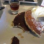 Golden brown. /burnt pancakes