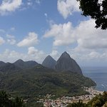 The Pitons. Off the road pic.