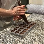 Making their famous chocolate logo stars